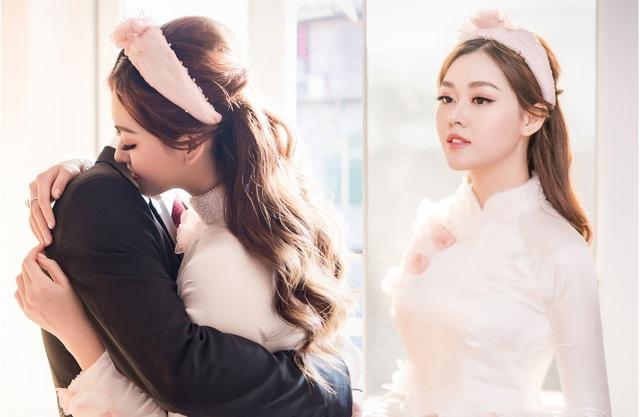 Hoa hậu Trần Tiểu Vy bối rối khi chụp được hoa cưới của Tường San - 1