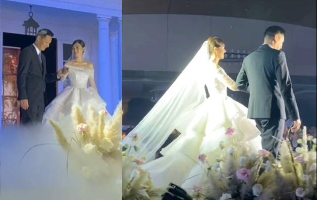 Hoa hậu Trần Tiểu Vy bối rối khi chụp được hoa cưới của Tường San - 2