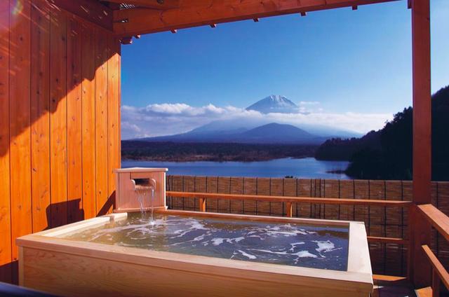 Tắm onsen dưới chân núi Phú Sĩ - 1