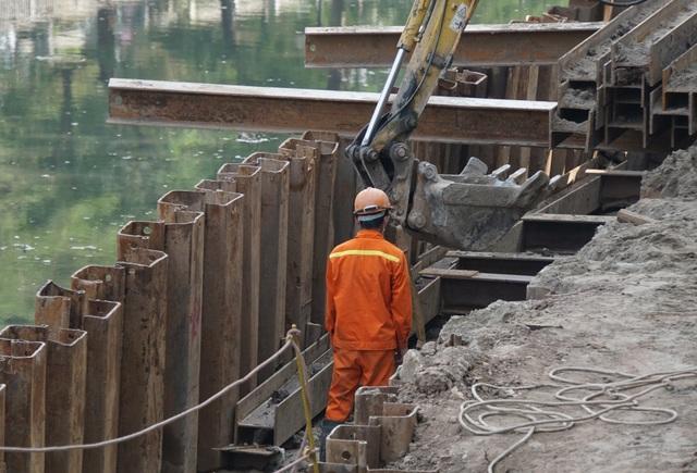 Cận cảnh công trình tách nước thải khỏi sông Tô Lịch - 6