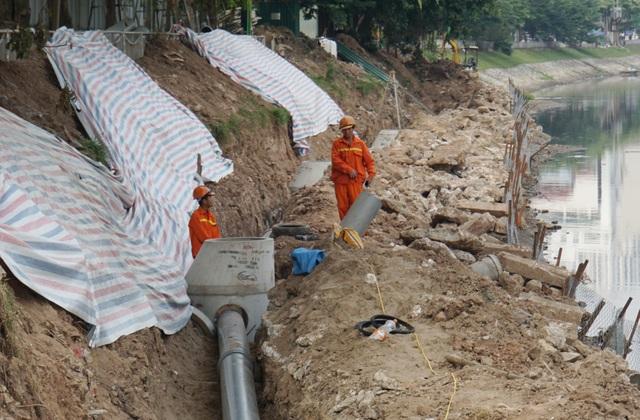 Cận cảnh công trình tách nước thải khỏi sông Tô Lịch - 11