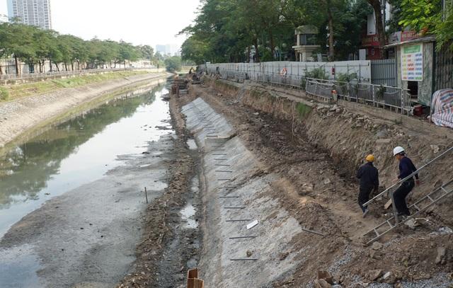 Cận cảnh công trình tách nước thải khỏi sông Tô Lịch - 13