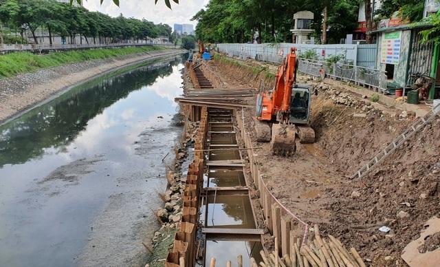 Cận cảnh công trình tách nước thải khỏi sông Tô Lịch - 8