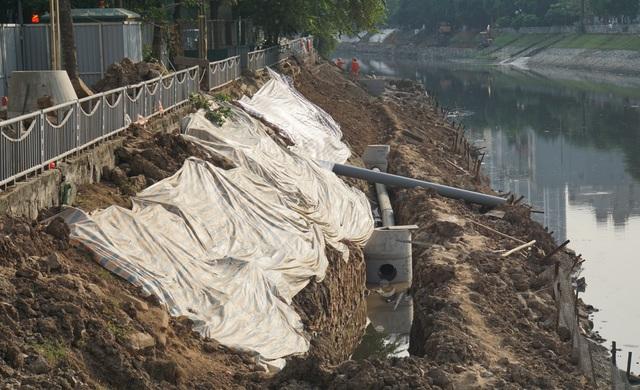 Cận cảnh công trình tách nước thải khỏi sông Tô Lịch - 4