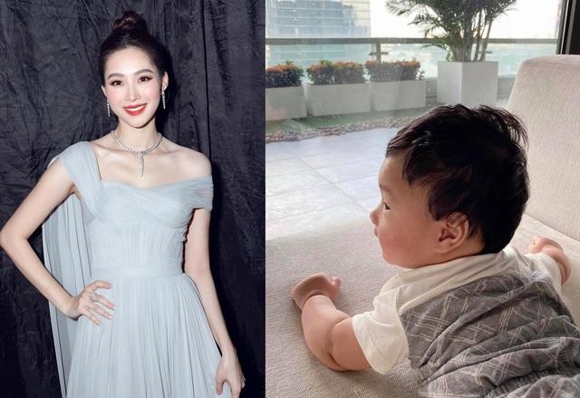 Vợ chồng Hoa hậu Đặng Thu Thảo khoe ảnh con trai cưng - 1