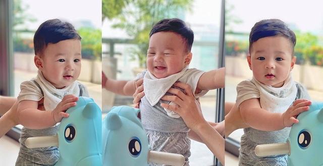 Vợ chồng Hoa hậu Đặng Thu Thảo khoe ảnh con trai cưng - 3