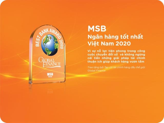 MSB được vinh danh là ngân hàng tốt nhất Việt Nam năm 2020 - 1