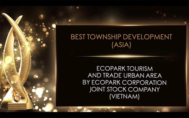 Ecopark được vinh danh khu đô thị tốt nhất châu Á - 1