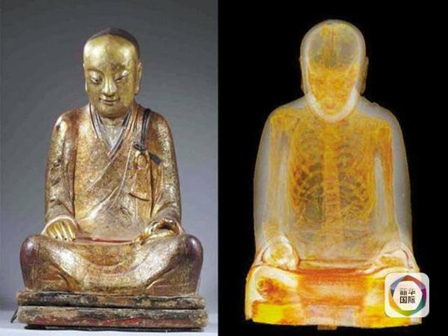 Trung Quốc đòi trả lại bức tượng Phật 1000 năm tuổi chứa xác ướp nhà sư - 1