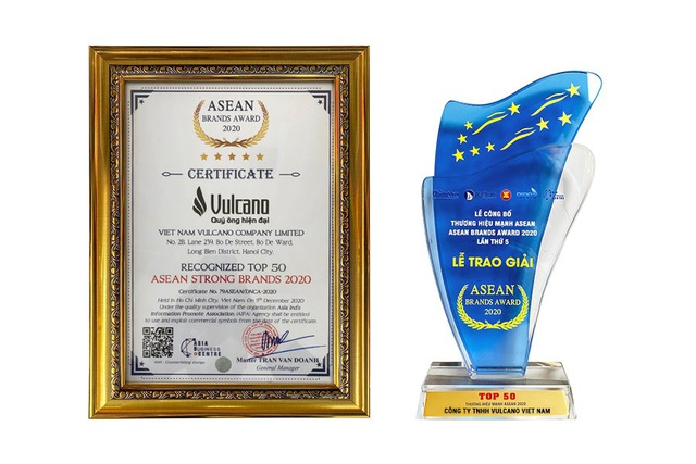 Thời trang Vulcano được vinh danh Top 50 thương hiệu mạnh Asean 2020 - 2