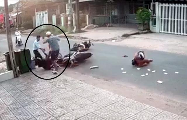 Nữ sinh bị đánh sau tai nạn: Phải khâu 10 mũi trên đầu, chấn thương mặt - 4