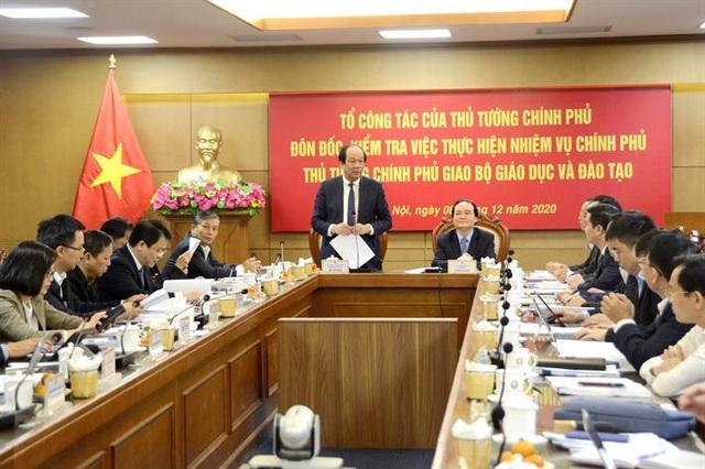 Tổ công tác của Thủ tướng Chính phủ làm việc với Bộ GD-ĐT - 1