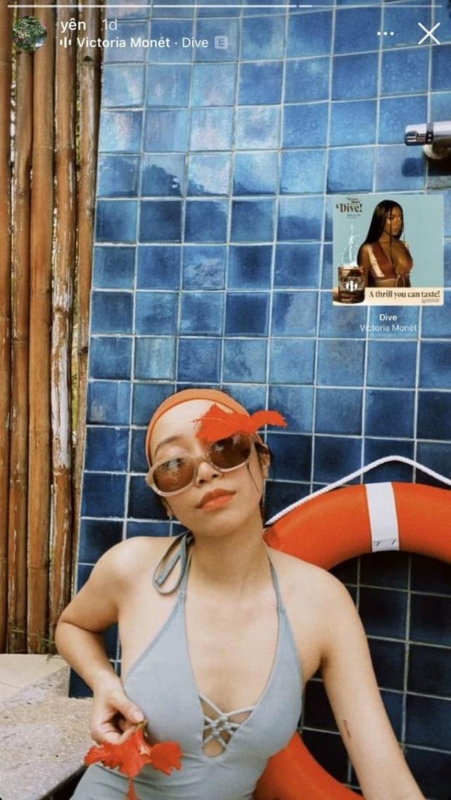 Con gái út nhà Diva Mỹ Linh lần đầu khoe dáng với bikini - 1