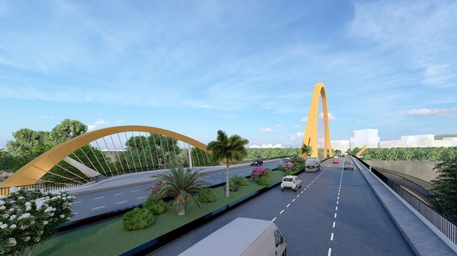 Cầu Cửa Lục 3 không chỉ là công trình giao thông mà còn là điểm nhấn kiến trúc cảnh quan nằm trên vịnh Cửa Lục