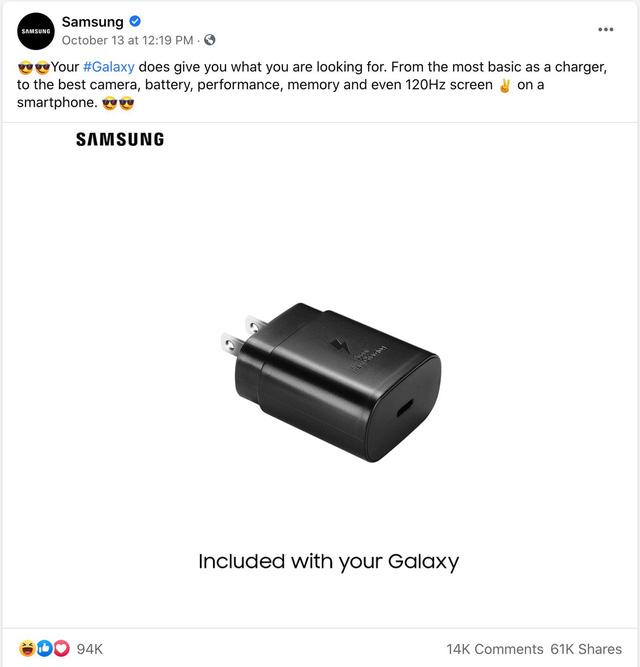 Chê Apple bán iPhone 12 không kèm sạc nhưng Samsung sắp làm theo điều này - 1