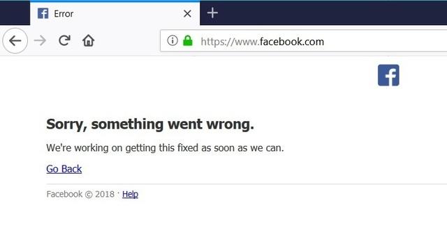 Sau Google, đến lượt Facebook gặp sự cố tại Việt Nam - 1