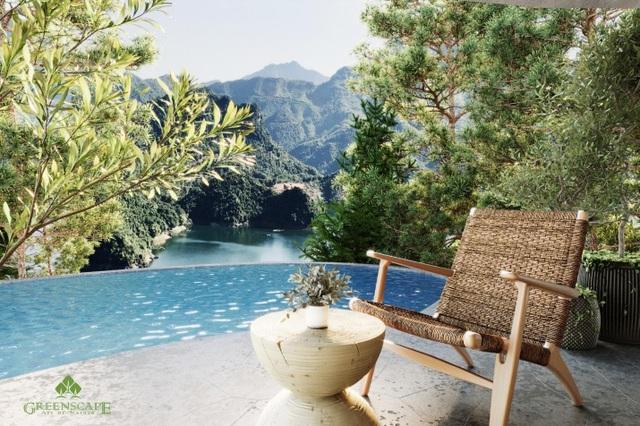 Tầm nhìn panorama tuyệt sắc từ biệt thự và bể bơi của Parahills Resort