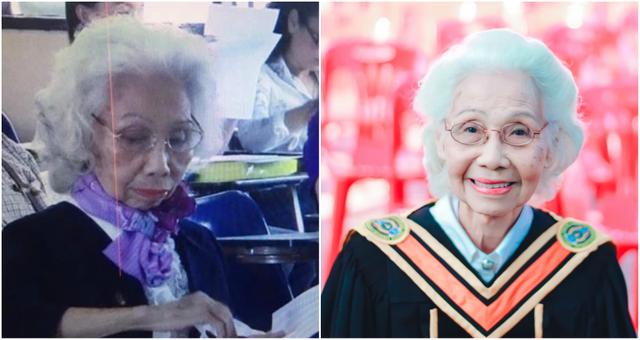 Cụ bà Thái Lan tốt nghiệp đại học ở tuổi 88 - 1