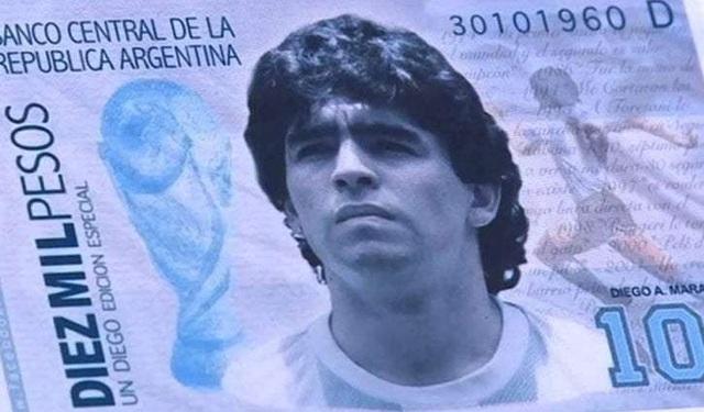 Maradona sắp xuất hiện trên tờ tiền có mệnh giá lớn nhất Argentina - 1