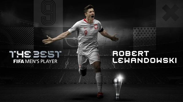 Vượt qua Messi và C.Ronaldo, Lewandowski giành giải The Best - 1