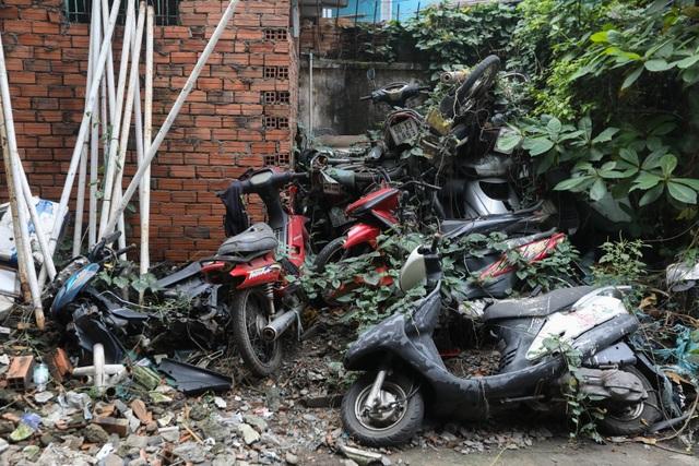 Hơn 500 chiếc xe máy vô chủ chất đống trong bến xe - 5