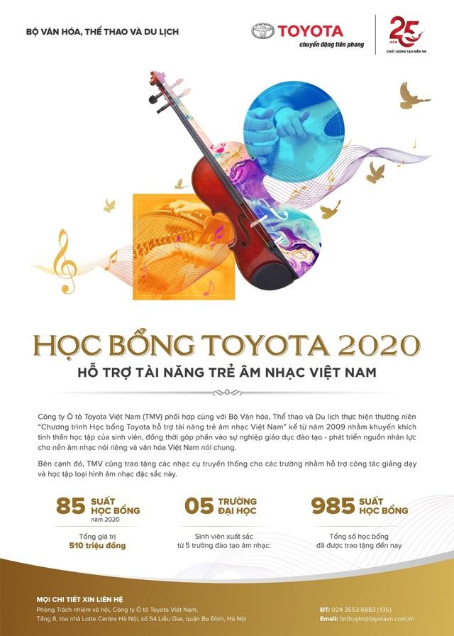 Học bổng Toyota 2020 hỗ trợ tài năng âm nhạc Việt theo đuổi đam mê - 1