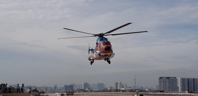 Sân bay trực thăng tại bệnh viện đầu tiên của Việt Nam chính thức hoạt động - 1