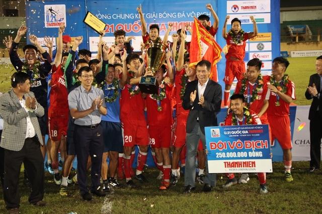 CLB bóng đá Viettel lần đầu vô địch giải U21 quốc gia - 2