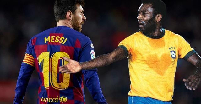Messi được so sánh 10 điểm chung với Pele  - 1