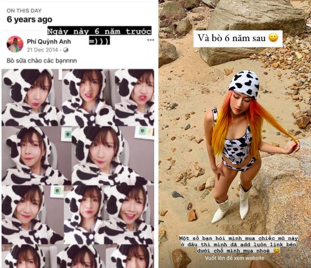 2 bức ảnh tự đăng cho thấy Quỳnh Anh Shyn thay đổi 180 độ sau 6 năm - 1