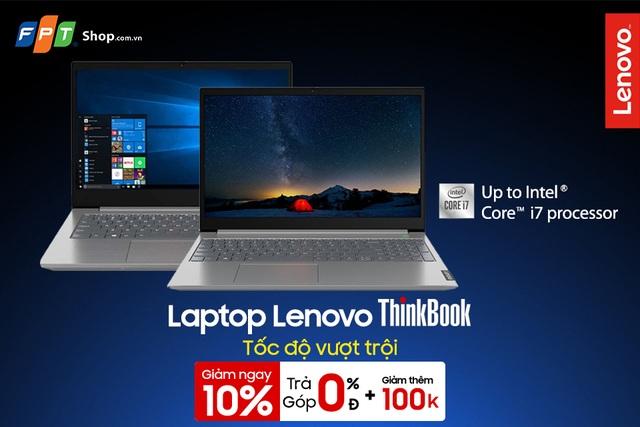 Không cần trả trước, đến FPT Shop rước laptop Lenovo ThinkBook về nhà - 1