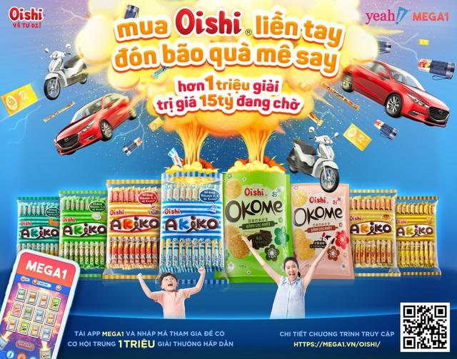 Mua Oishi liền tay - Đón bão quà mê say tìm ra chủ nhân trúng xe Piaggio - 3