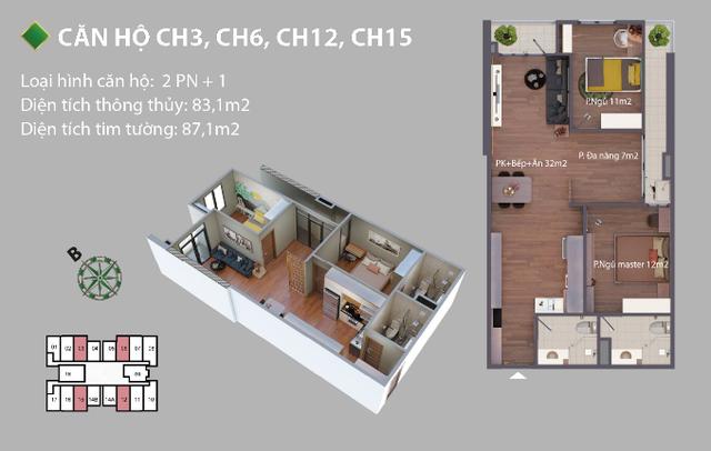 Vì sao căn hộ 2 PN+1 Phú Thịnh Green Park được nhiều người yêu thích? - 1