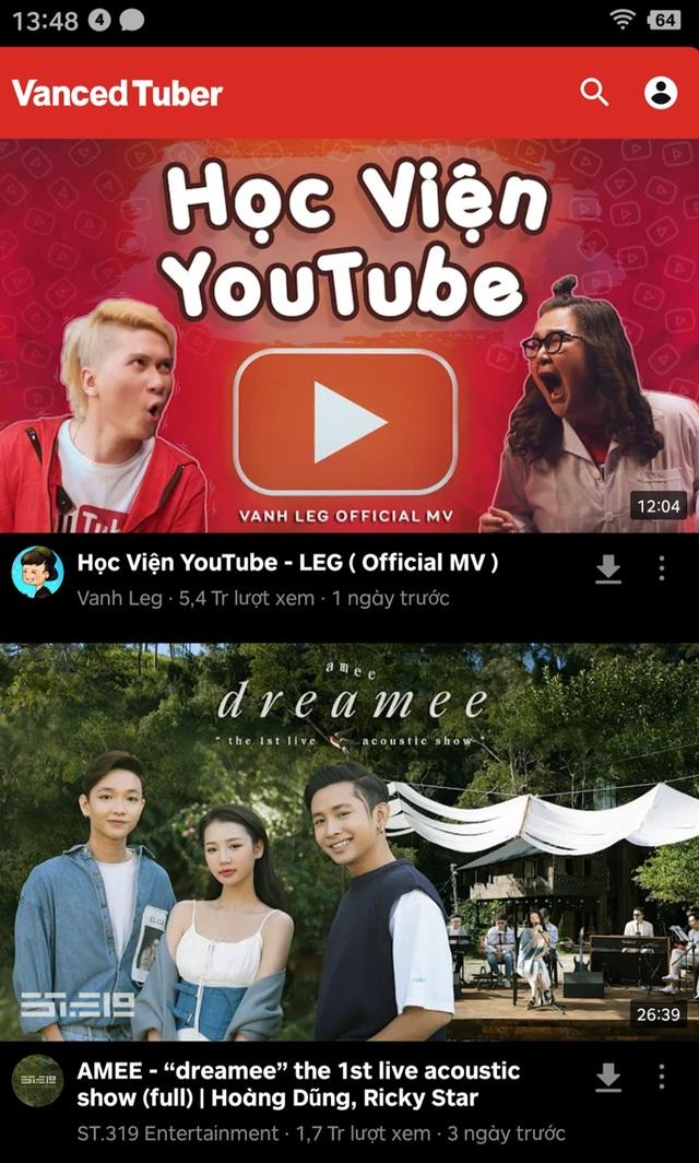Quảng cáo Youtube không còn là nỗi ám ảnh với ứng dụng Vanced Tuber - 2