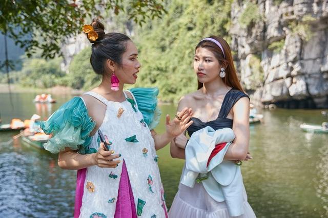 Chế Nguyễn Quỳnh Châu hoảng sợ khi Hoàng My, Kim Duyên quăng xuống đất - 2