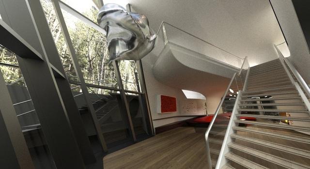 Dinh thự phỏng theo tàu vũ trụ bí ẩn giữa rừng của đại gia bất động sản - 6
