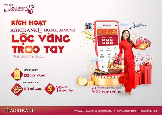 Rộn ràng đón năm mới cùng chương trình Kích hoạt Agribank E-Mobile Banking -Lộc vàng trao tay - 1