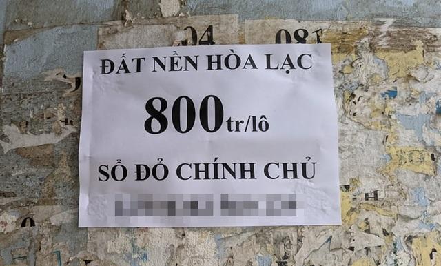Nửa năm sau cơn sốt đất Đồng Trúc, đất Hòa Lạc lại dậy sóng? - 1