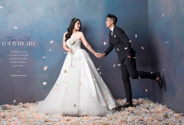 Bùi Tiến Dũng khoe ảnh cưới siêu đẹp cùng bạn gái Khánh Linh - 2