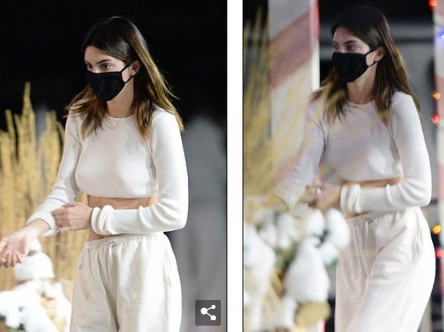 Kendall Jenner khoe eo thon giữa tuyết trắng - 3