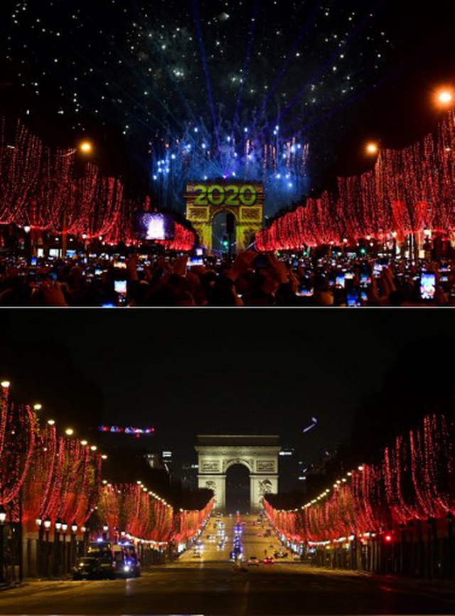 Pháo hoa sáng rực bầu trời châu Âu chào năm mới 2021 - 12