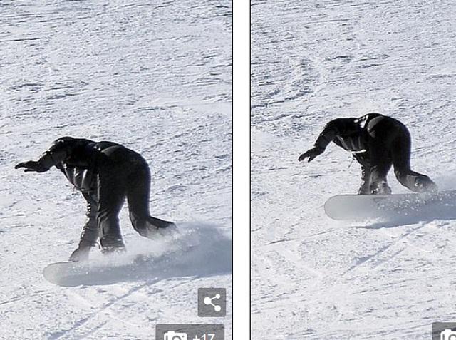 Kylie Jenner ngã nhào khi trượt tuyết - 2