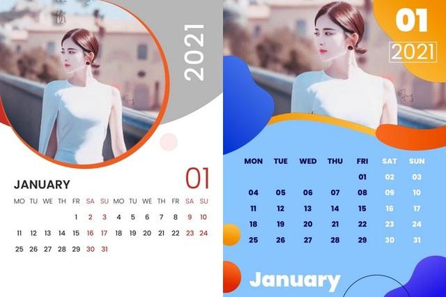 Hướng dẫn cách tự tạo bộ lịch năm 2021 đẹp mắt từ hình ảnh của chính bạn - 1
