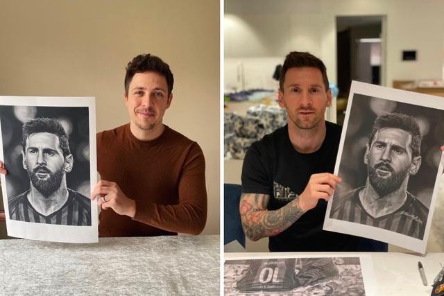 Xúc động trước những bức tranh vẽ Messi và Maradona - 2