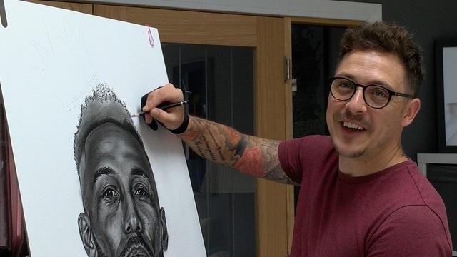 Xúc động trước những bức tranh vẽ Messi và Maradona - 3