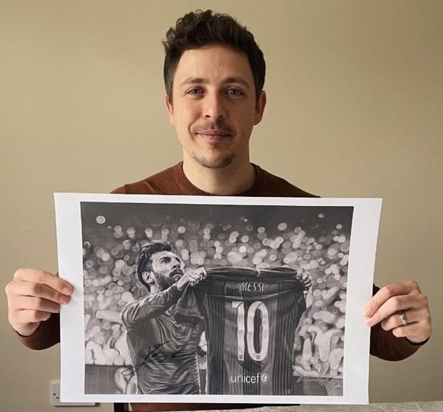 Xúc động trước những bức tranh vẽ Messi và Maradona - 4