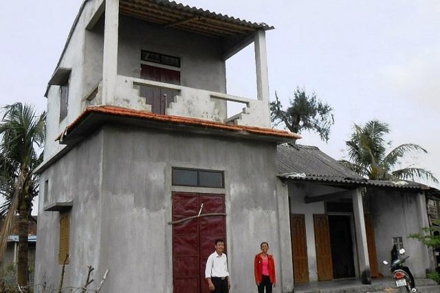 Quảng Bình: 134 hộ nghèo được hỗ trợ xây nhà chống bão, lũ - 1