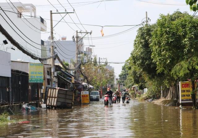 Trời không mưa, đường ở TP Thủ Đức vẫn ngập như sông - 4