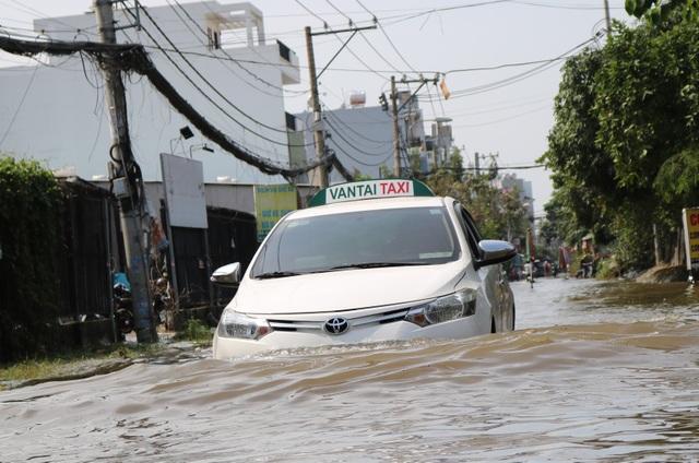 Trời không mưa, đường ở TP Thủ Đức vẫn ngập như sông - 5