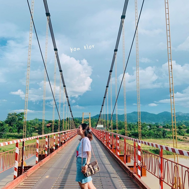 Come to the Central Highlands, do not forget to check-in with the beautiful virtual suspension bridge that loves Kon Klor - 4
